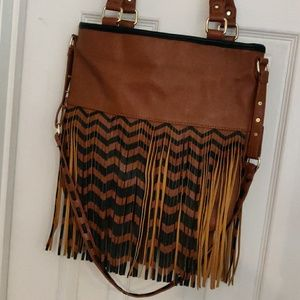 Steve Madden Crossbody with Handles Fringe Bag